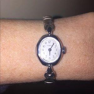 Vintage Timex Wind up watch Silver